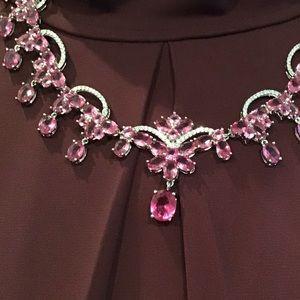 Bridal/Evening Diamonique Statement necklace